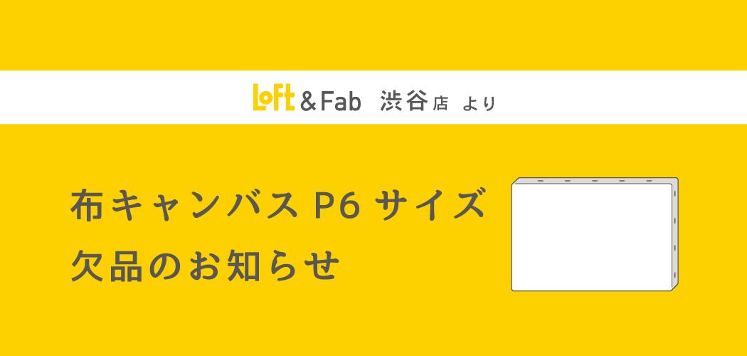 《再入荷しました》布キャンバスP6サイズ 欠品のおしらせ【渋谷】