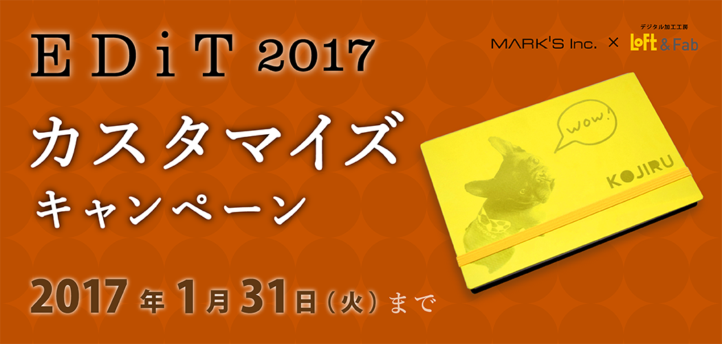 MARK'S Inc. × Loft&Fab 《EDiT 2017 カスタマイズキャンペーン》